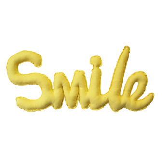 {린넨러브가랜드}Linen SMILE Cushion Garland_Yellow
