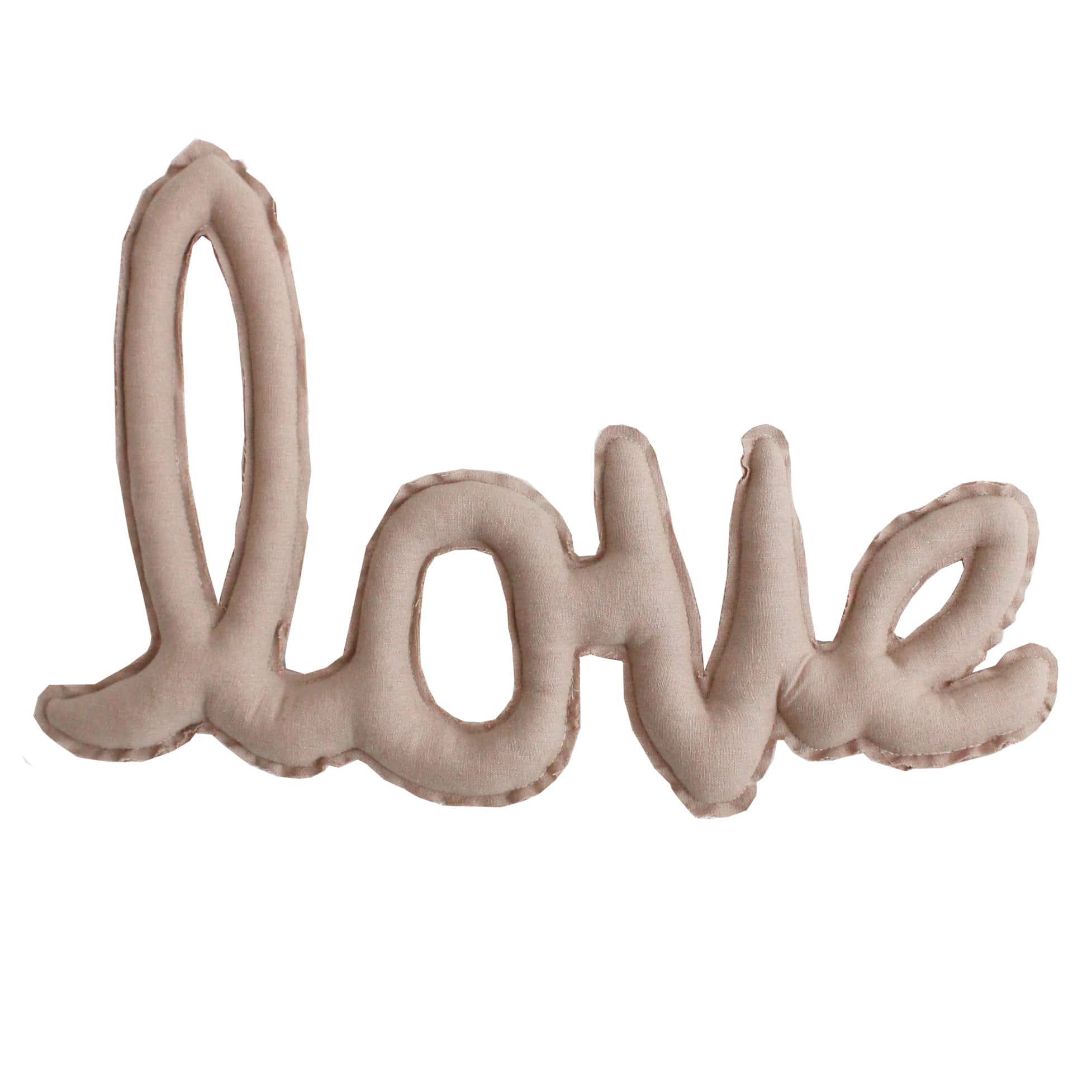 Linen LOVE Cushion Garland_beige